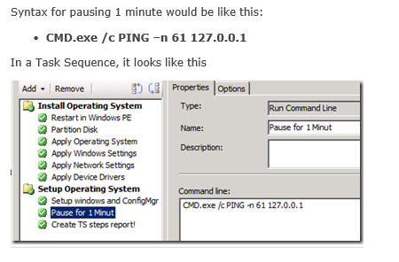 Pause a Task Sequence in ConfigMgr - LPM Automation